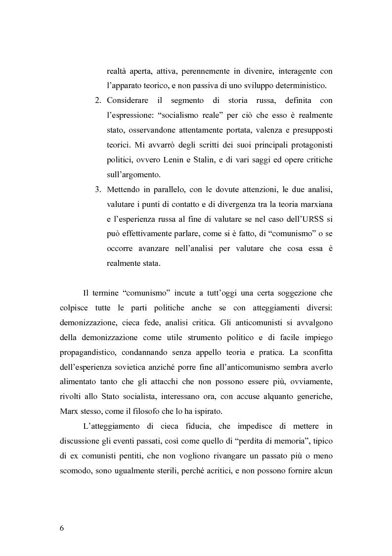 """Anteprima della tesi: Marx e il """"socialismo reale"""", Pagina 3"""