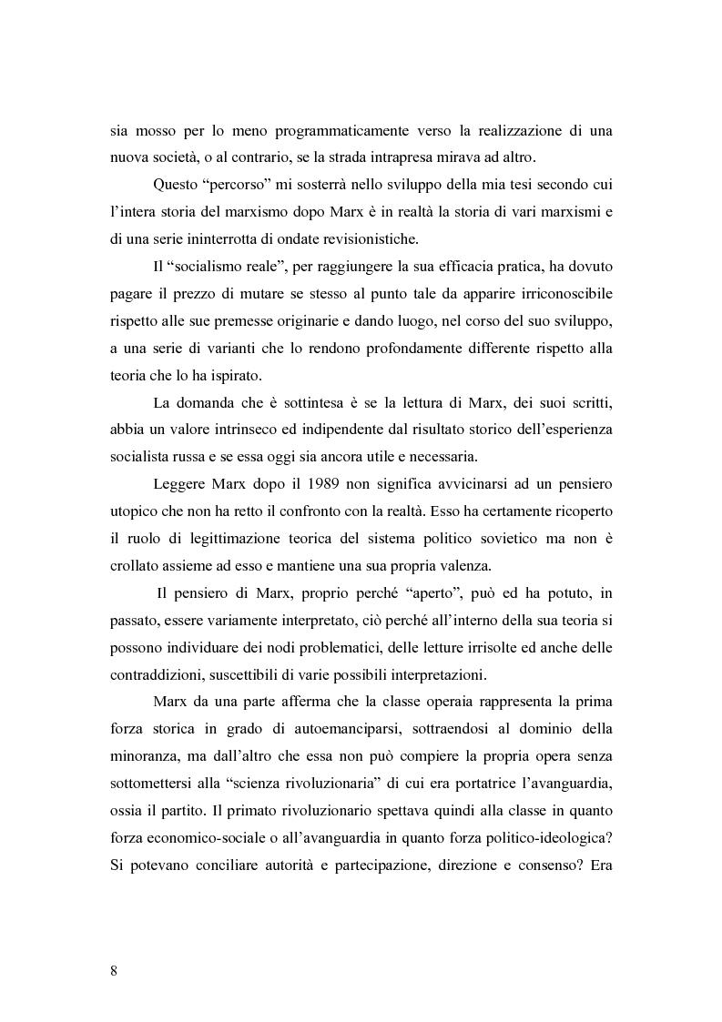 """Anteprima della tesi: Marx e il """"socialismo reale"""", Pagina 5"""