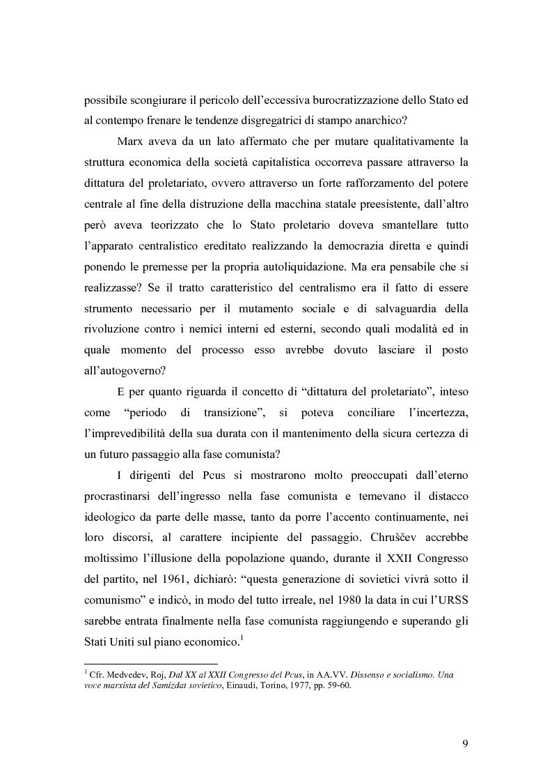"""Anteprima della tesi: Marx e il """"socialismo reale"""", Pagina 6"""