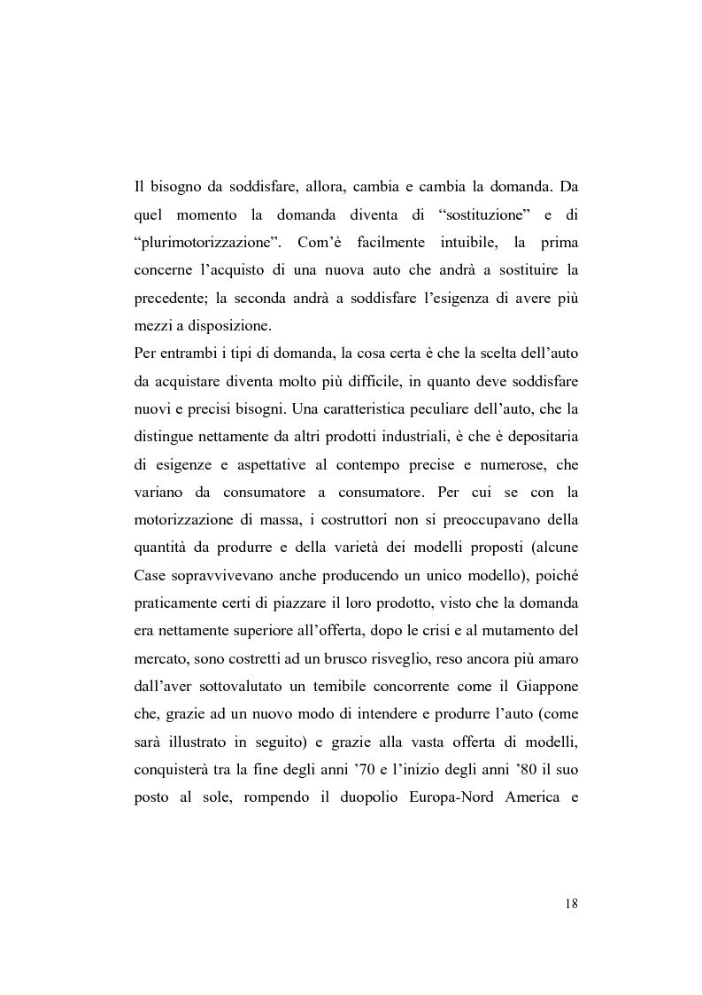 Anteprima della tesi: La riorganizzazione nel settore automotive: il rapporto con i fornitori e la distribuzione, Pagina 12