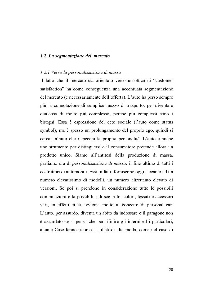 Anteprima della tesi: La riorganizzazione nel settore automotive: il rapporto con i fornitori e la distribuzione, Pagina 14