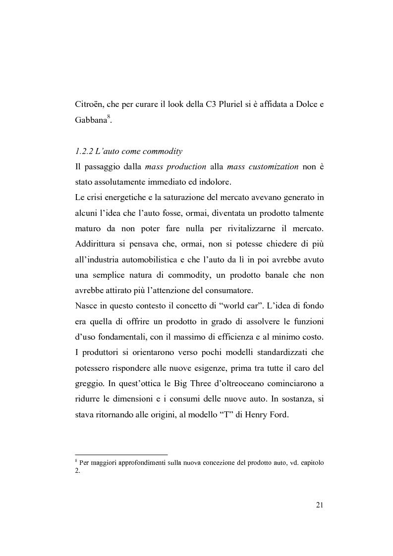 Anteprima della tesi: La riorganizzazione nel settore automotive: il rapporto con i fornitori e la distribuzione, Pagina 15