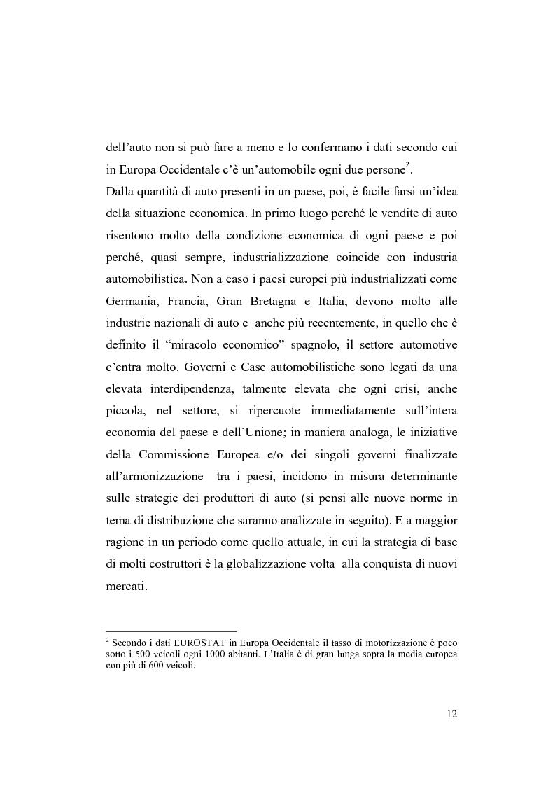Anteprima della tesi: La riorganizzazione nel settore automotive: il rapporto con i fornitori e la distribuzione, Pagina 6