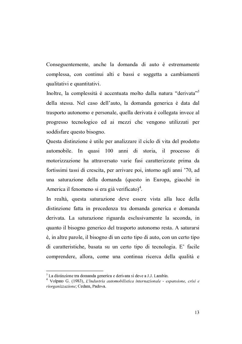 Anteprima della tesi: La riorganizzazione nel settore automotive: il rapporto con i fornitori e la distribuzione, Pagina 7