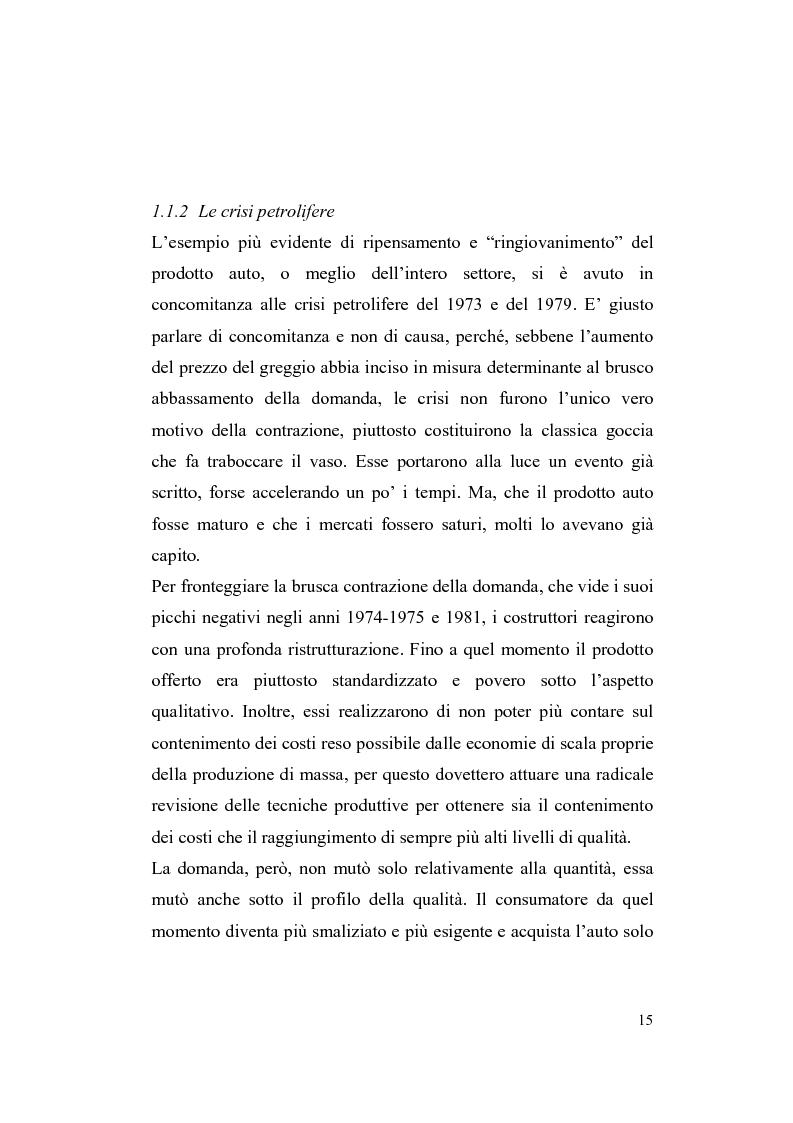 Anteprima della tesi: La riorganizzazione nel settore automotive: il rapporto con i fornitori e la distribuzione, Pagina 9