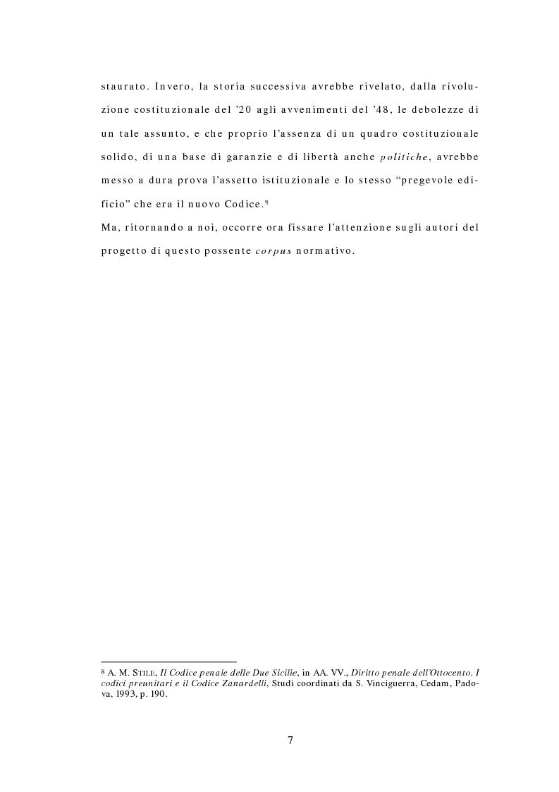Anteprima della tesi: Il Codice delle Due Sicilie del 1819, Pagina 5