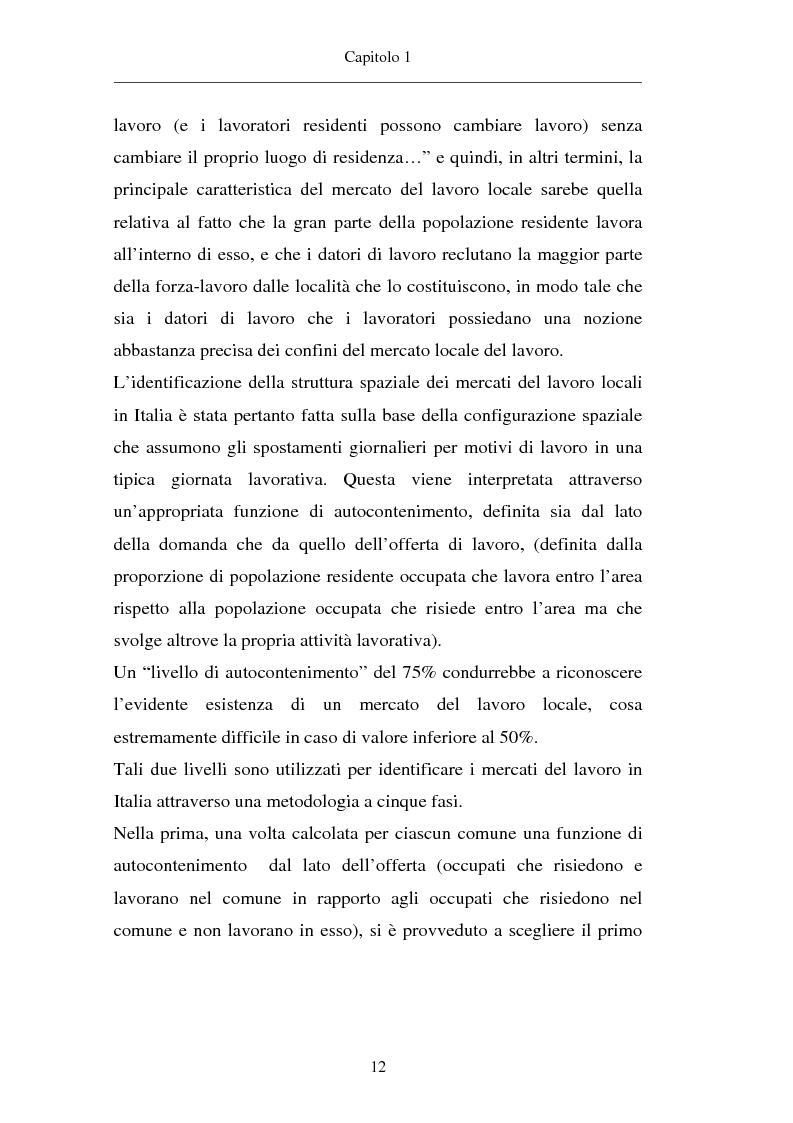 Anteprima della tesi: Un approccio territoriale al mercato del lavoro: aspetti analitici e strategici, Pagina 12