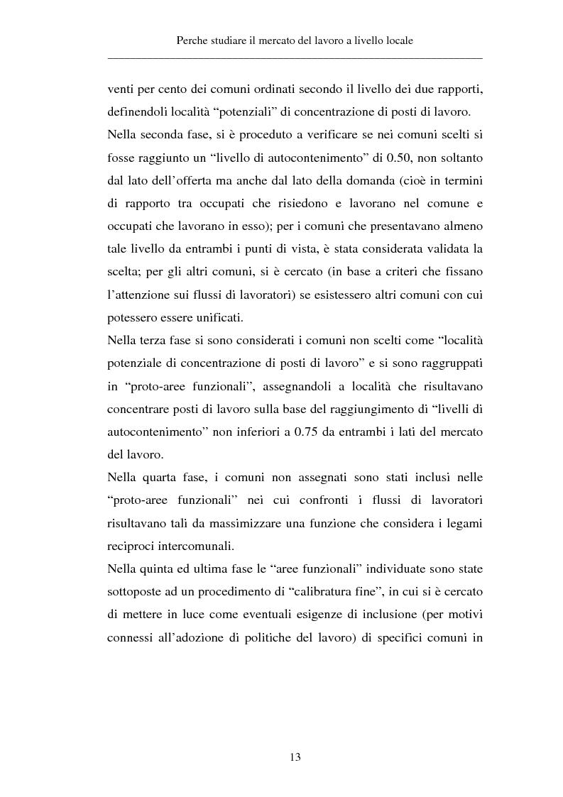 Anteprima della tesi: Un approccio territoriale al mercato del lavoro: aspetti analitici e strategici, Pagina 13