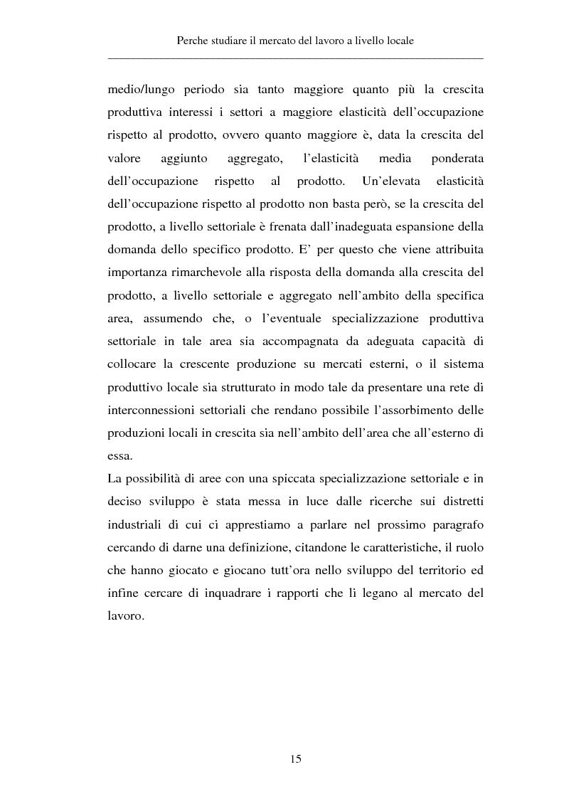 Anteprima della tesi: Un approccio territoriale al mercato del lavoro: aspetti analitici e strategici, Pagina 15