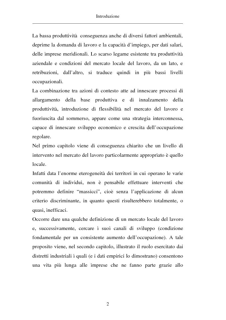 Anteprima della tesi: Un approccio territoriale al mercato del lavoro: aspetti analitici e strategici, Pagina 2