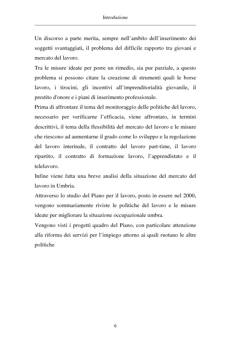 Anteprima della tesi: Un approccio territoriale al mercato del lavoro: aspetti analitici e strategici, Pagina 6