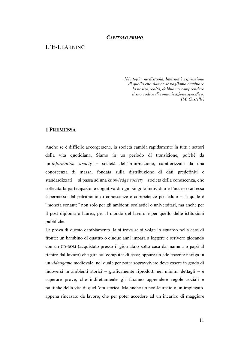 Anteprima della tesi: Apprendere oggi. La valutazione di un'esperienza di formazione a distanza, Pagina 5