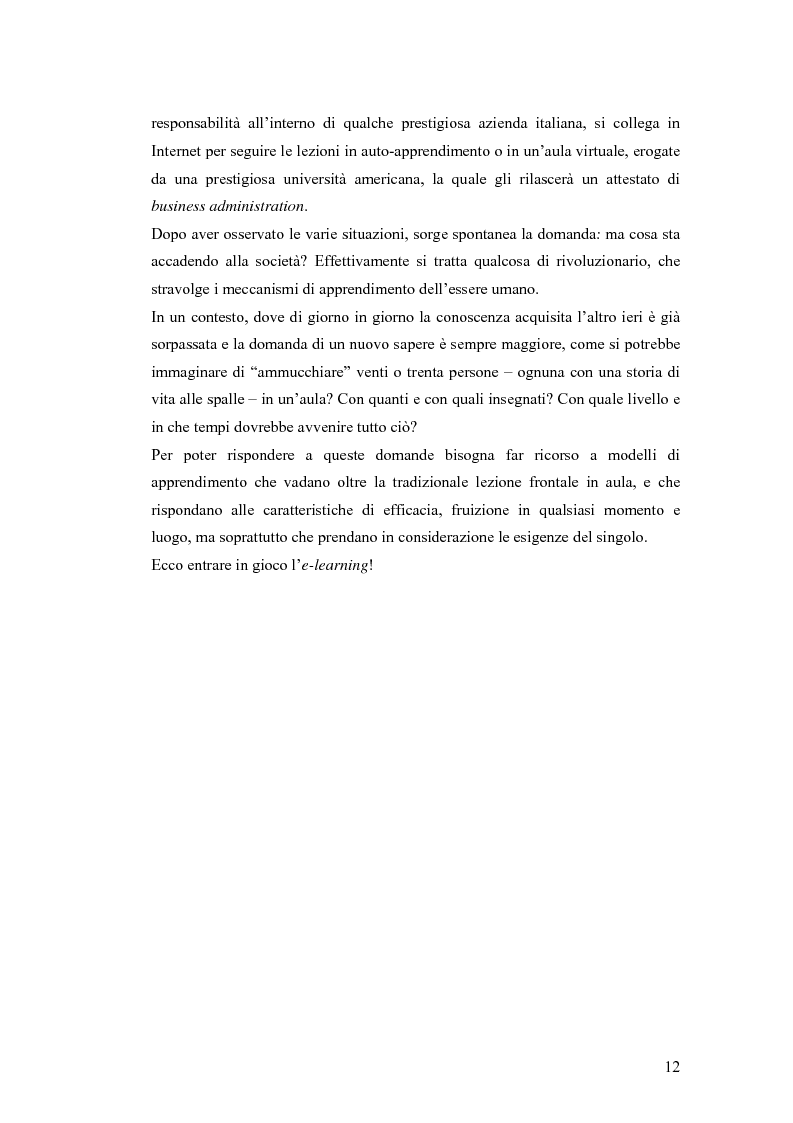 Anteprima della tesi: Apprendere oggi. La valutazione di un'esperienza di formazione a distanza, Pagina 6
