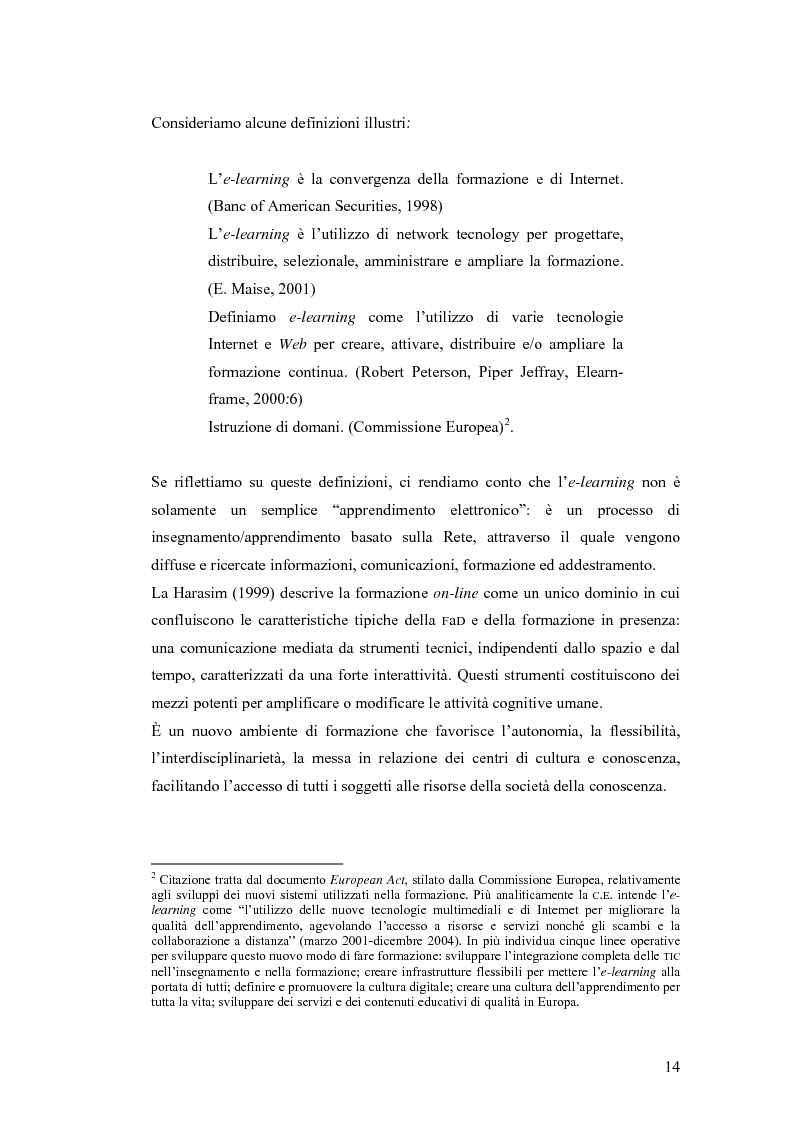 Anteprima della tesi: Apprendere oggi. La valutazione di un'esperienza di formazione a distanza, Pagina 8