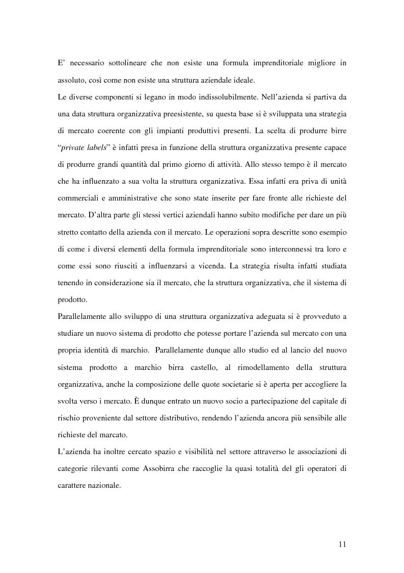 Anteprima della tesi: Strategie competitive nel settore della birra: il caso Birra Castello, Pagina 11