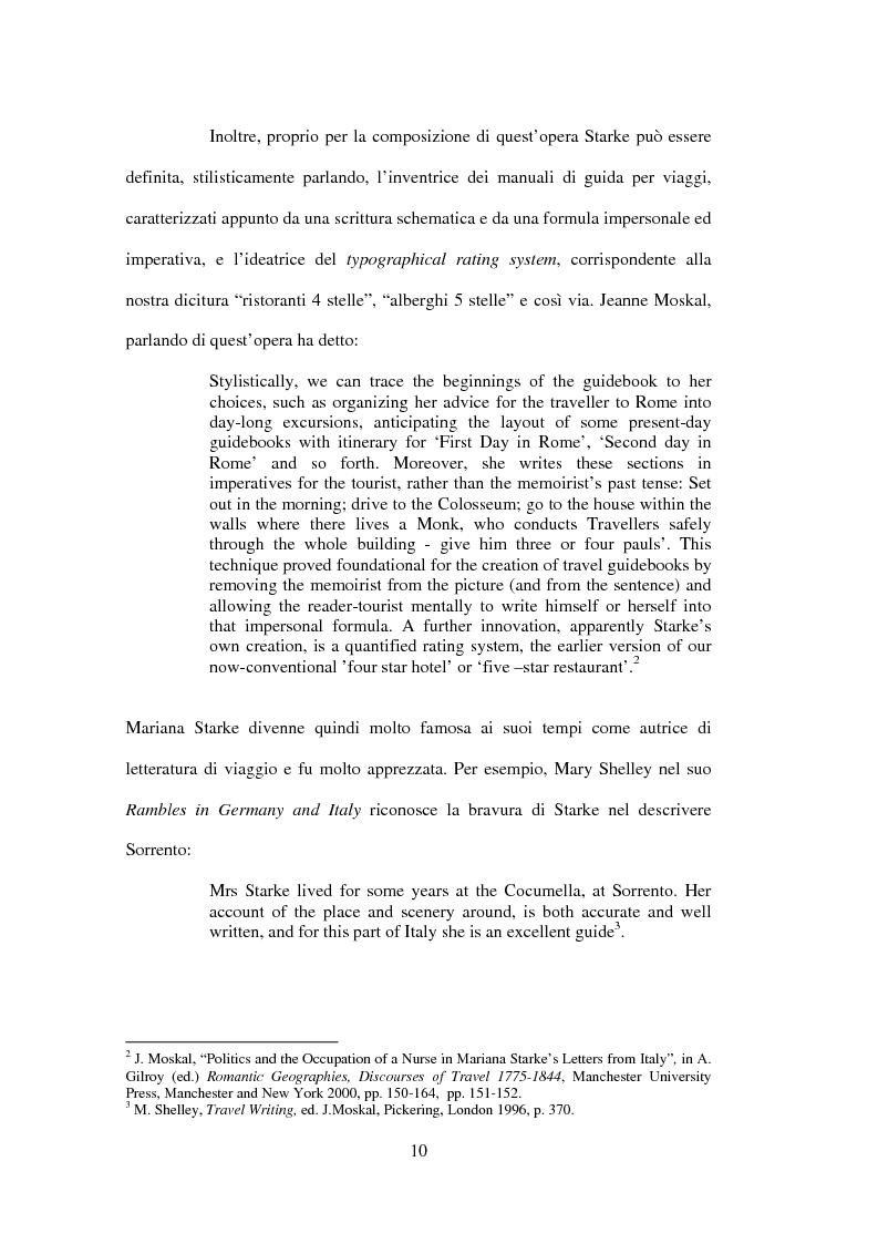 Anteprima della tesi: La drammaturgia di Mariana Starke (1762 ? - 1838), Pagina 10