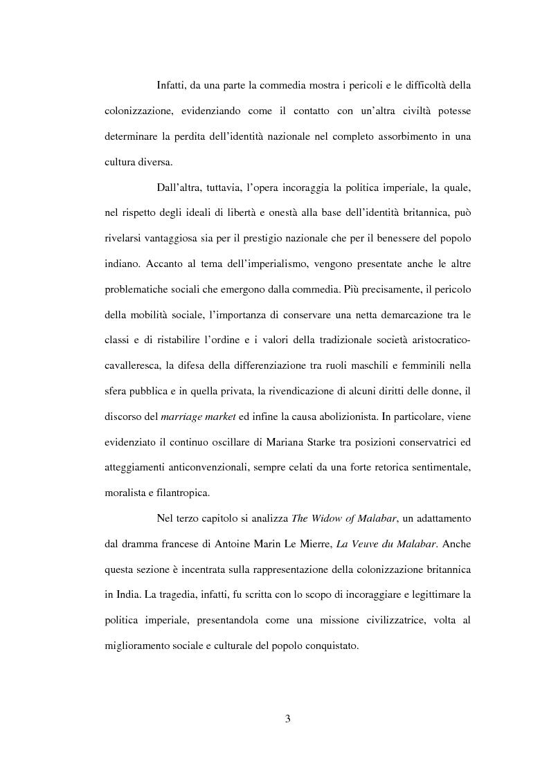 Anteprima della tesi: La drammaturgia di Mariana Starke (1762 ? - 1838), Pagina 3