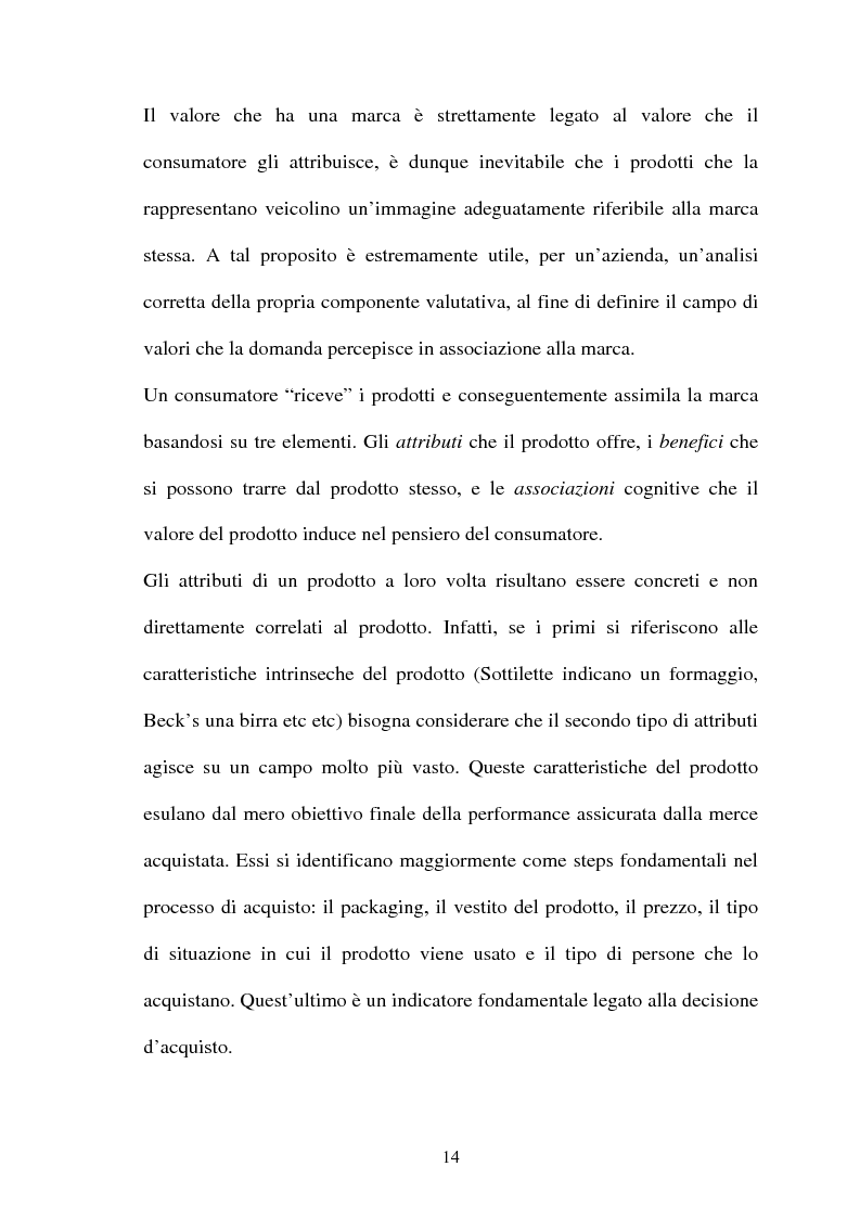 Anteprima della tesi: Brand Image, genesi, mantenimento e cambiamento di un'immagine di marca, Pagina 10