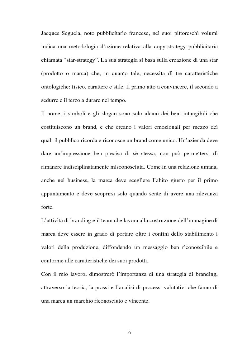 Anteprima della tesi: Brand Image, genesi, mantenimento e cambiamento di un'immagine di marca, Pagina 2