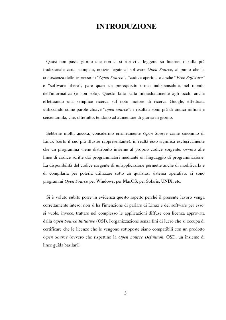 Anteprima della tesi: L'Open Source: un'alternativa reale al software proprietario, Pagina 1