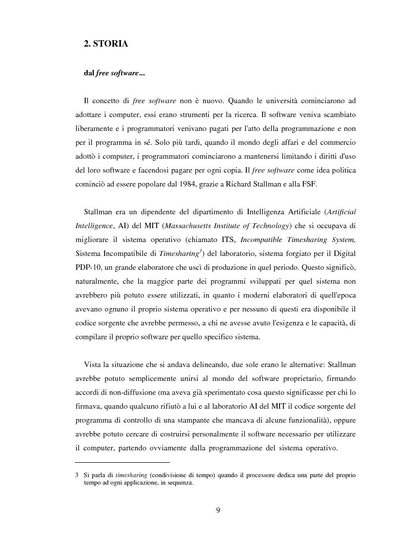 Anteprima della tesi: L'Open Source: un'alternativa reale al software proprietario, Pagina 7