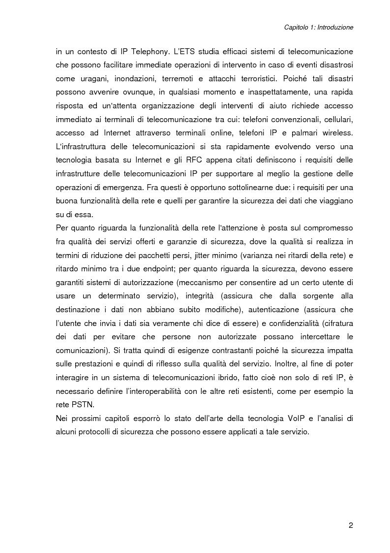 Anteprima della tesi: L'impatto della sicurezza nelle comunicazioni vocali su rete IP: misure prestazionali e comparazioni, Pagina 2
