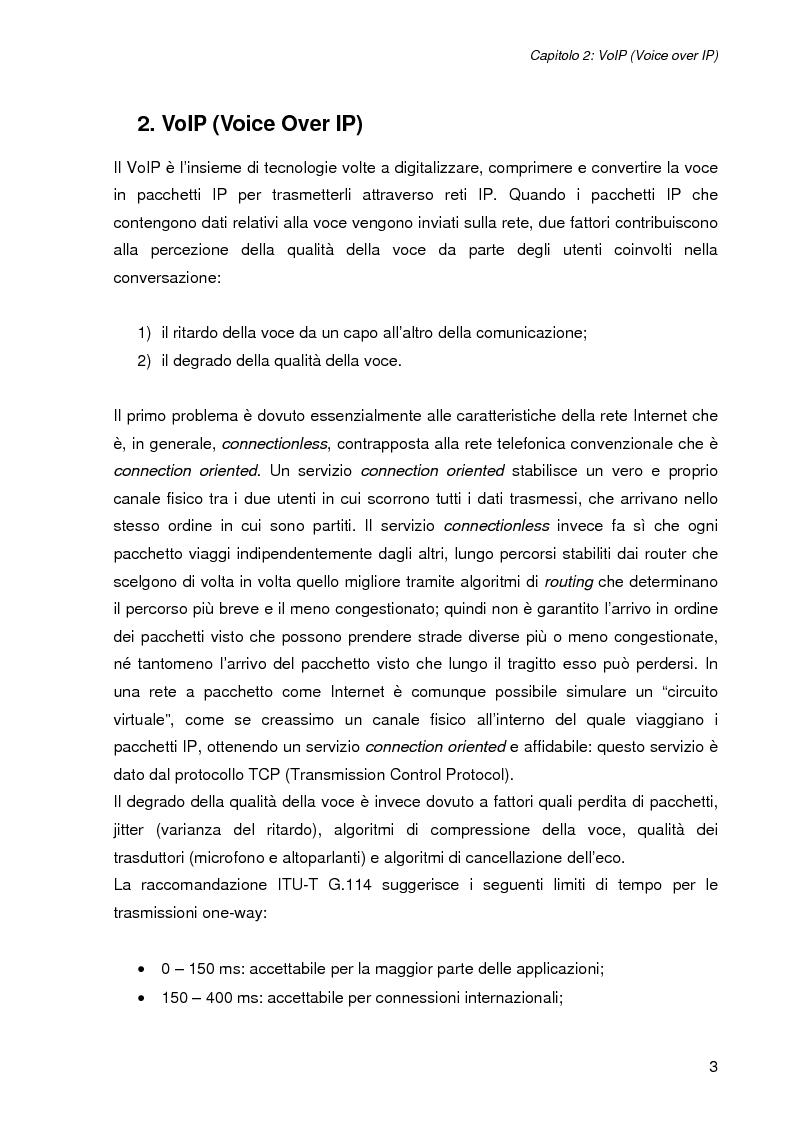 Anteprima della tesi: L'impatto della sicurezza nelle comunicazioni vocali su rete IP: misure prestazionali e comparazioni, Pagina 3