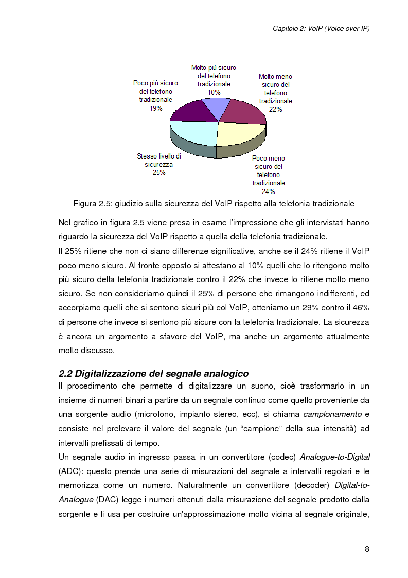 Anteprima della tesi: L'impatto della sicurezza nelle comunicazioni vocali su rete IP: misure prestazionali e comparazioni, Pagina 8