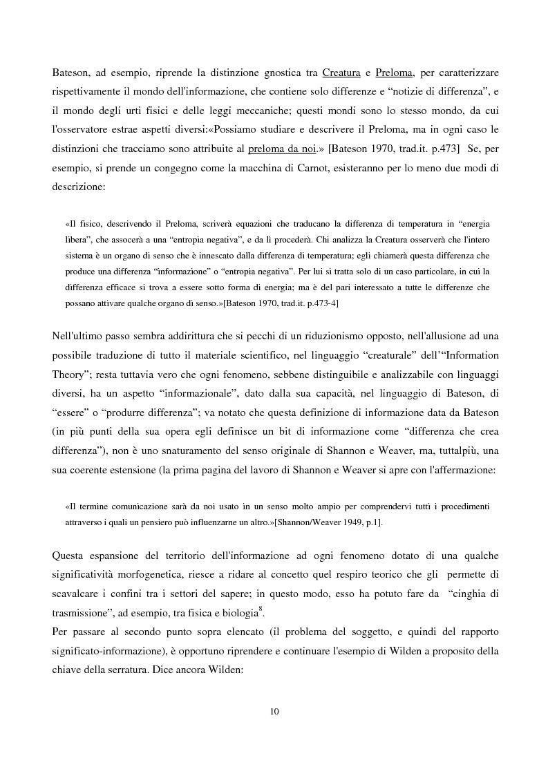 Anteprima della tesi: Coscienza, autoriflessività e paradossi: la teoria del ''doppio legame'' di G. Bateson, Pagina 10
