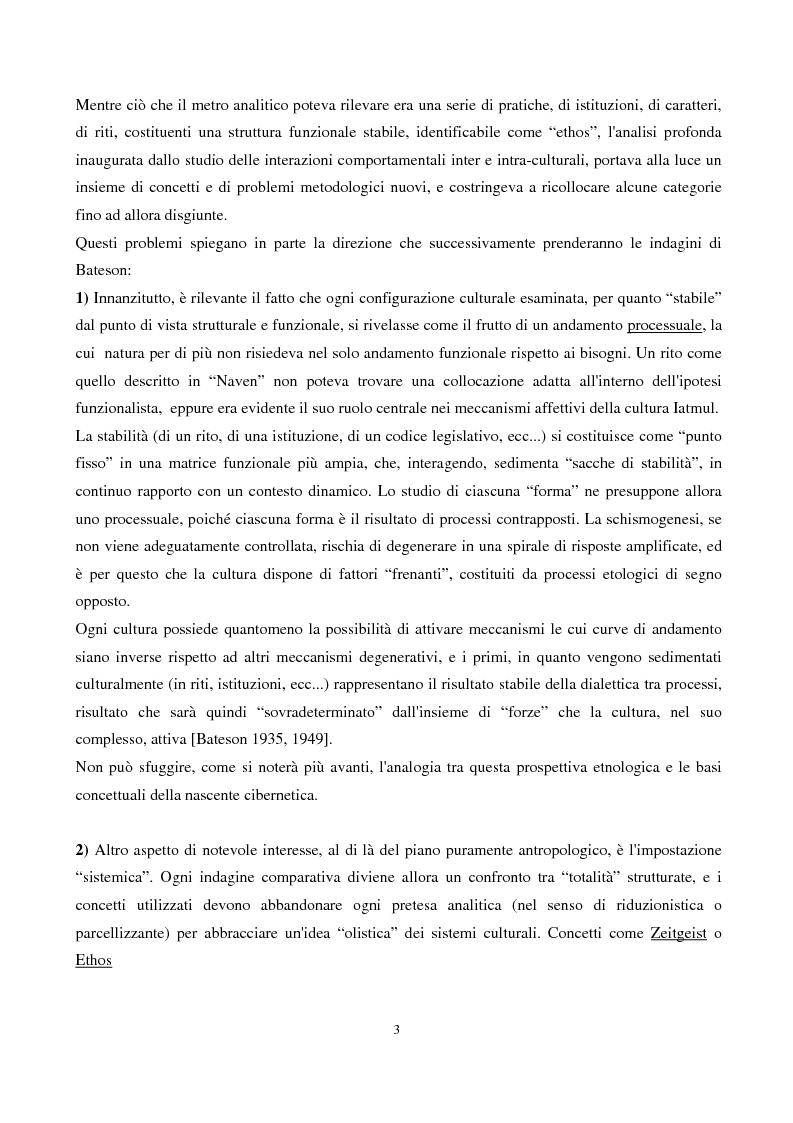 Anteprima della tesi: Coscienza, autoriflessività e paradossi: la teoria del ''doppio legame'' di G. Bateson, Pagina 3