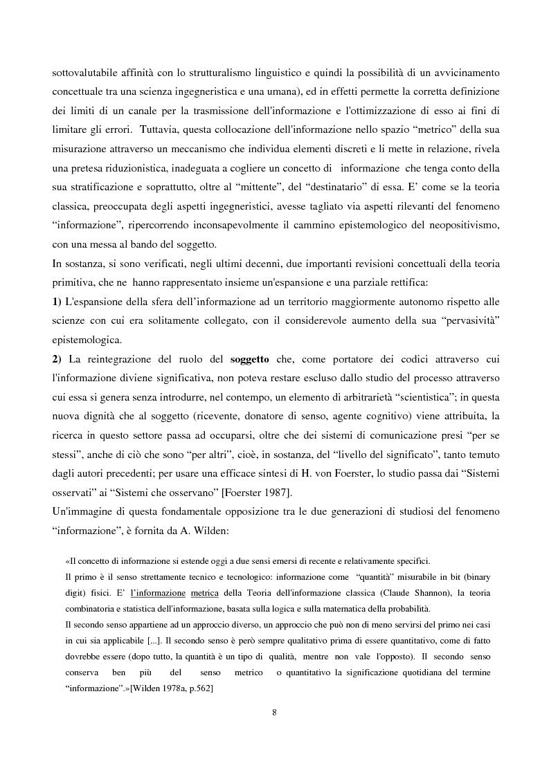 Anteprima della tesi: Coscienza, autoriflessività e paradossi: la teoria del ''doppio legame'' di G. Bateson, Pagina 8