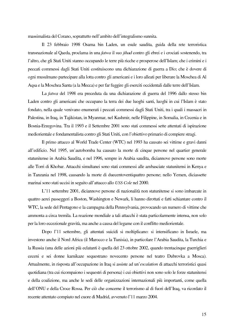 Anteprima della tesi: Il trattamento dei membri di organizzazioni terroristiche internazionali con particolare riguardo al ''caso Guantanamo'', Pagina 10
