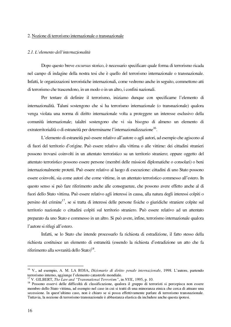 Anteprima della tesi: Il trattamento dei membri di organizzazioni terroristiche internazionali con particolare riguardo al ''caso Guantanamo'', Pagina 11