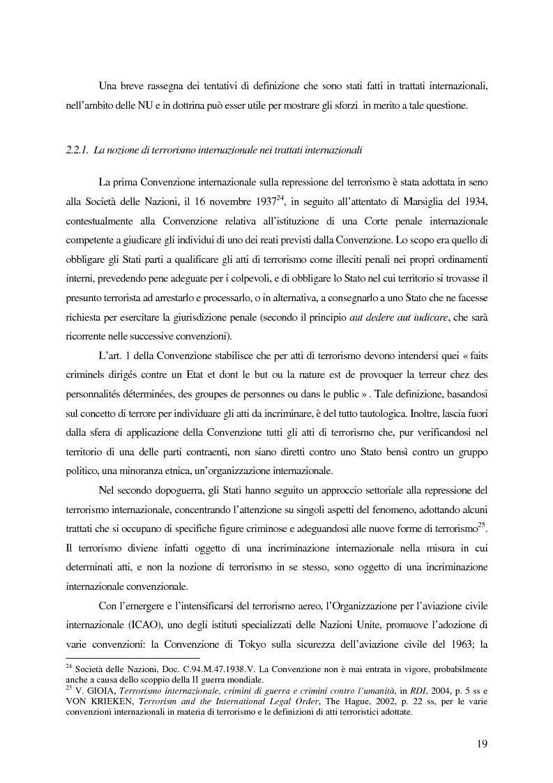 Anteprima della tesi: Il trattamento dei membri di organizzazioni terroristiche internazionali con particolare riguardo al ''caso Guantanamo'', Pagina 14