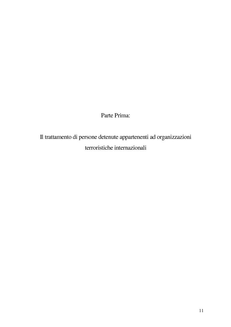 Anteprima della tesi: Il trattamento dei membri di organizzazioni terroristiche internazionali con particolare riguardo al ''caso Guantanamo'', Pagina 6