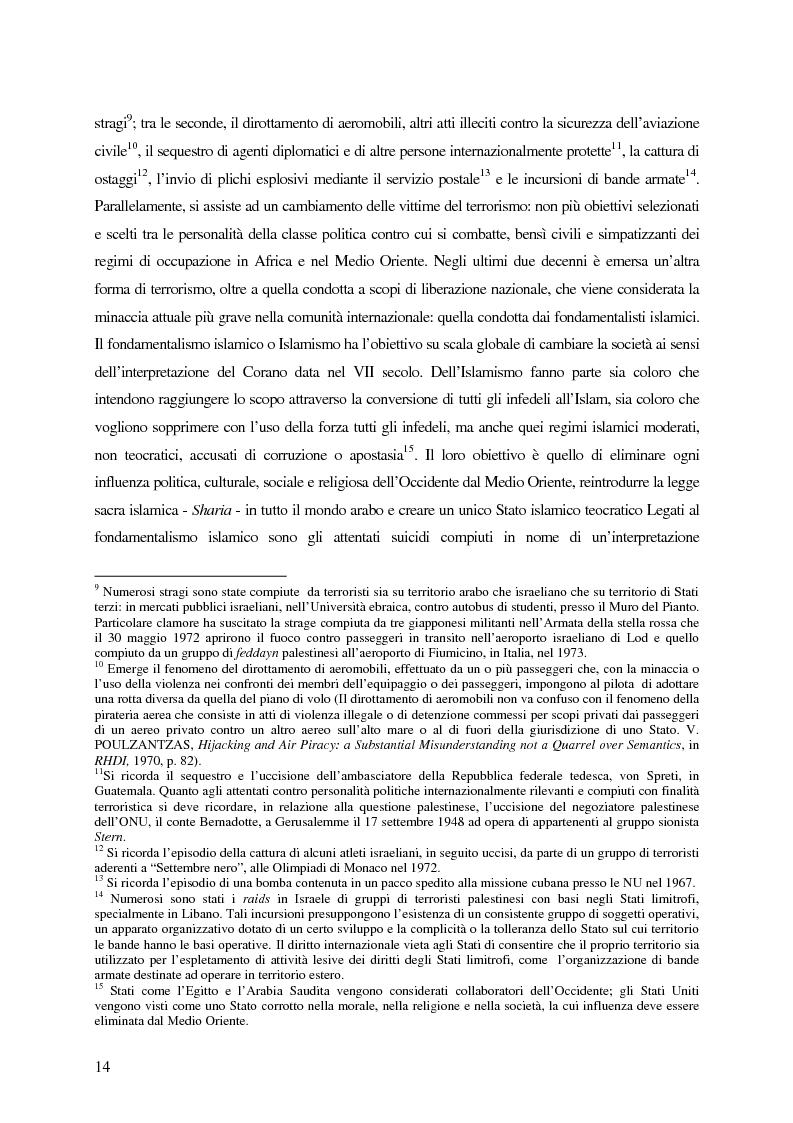 Anteprima della tesi: Il trattamento dei membri di organizzazioni terroristiche internazionali con particolare riguardo al ''caso Guantanamo'', Pagina 9