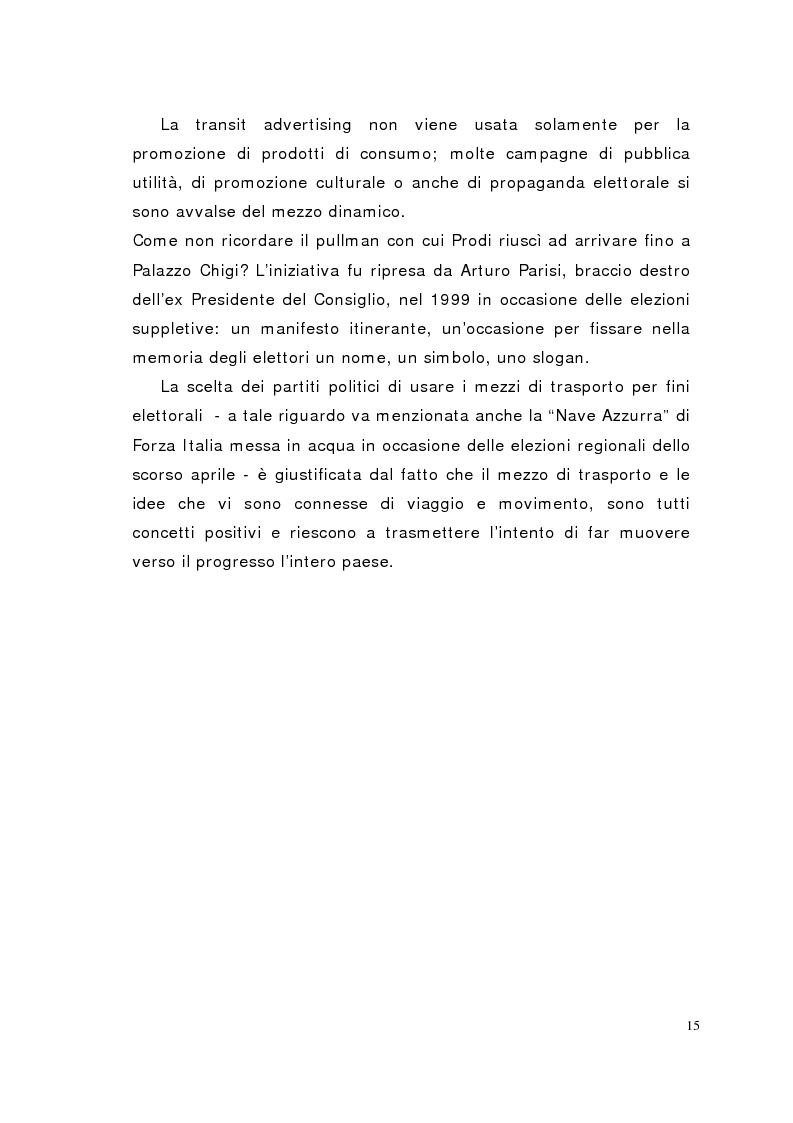 Anteprima della tesi: Il mezzo è il messaggio. La transit advertising in Italia e nel mondo, Pagina 10