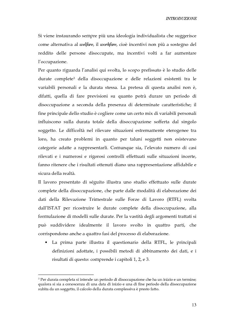 Anteprima della tesi: Durata della disoccupazione: indagini e modelli, Pagina 13