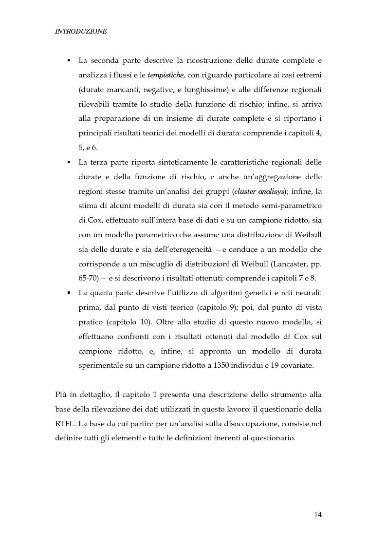 Anteprima della tesi: Durata della disoccupazione: indagini e modelli, Pagina 14