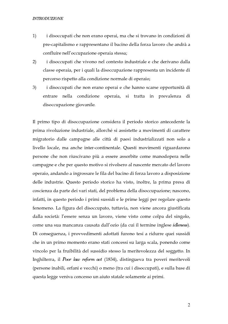 Anteprima della tesi: Durata della disoccupazione: indagini e modelli, Pagina 2