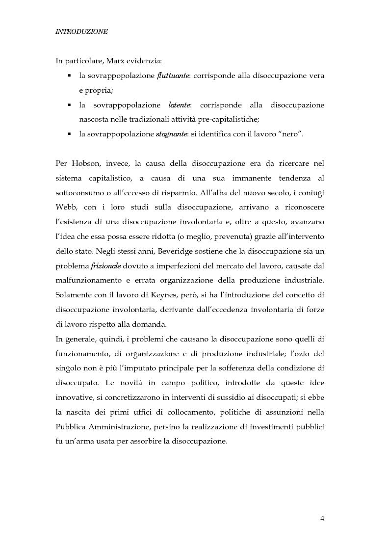 Anteprima della tesi: Durata della disoccupazione: indagini e modelli, Pagina 4