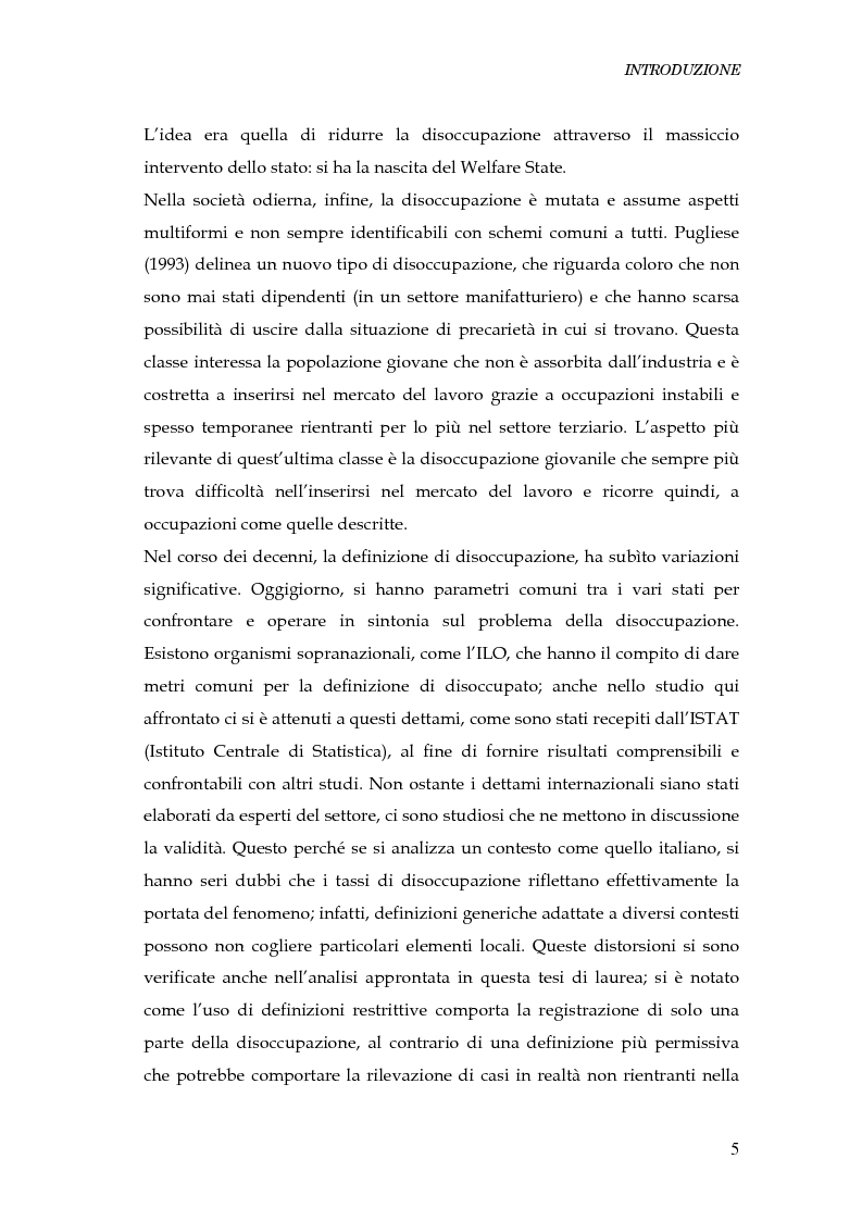 Anteprima della tesi: Durata della disoccupazione: indagini e modelli, Pagina 5