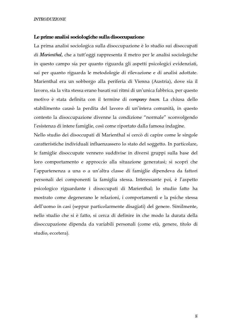 Anteprima della tesi: Durata della disoccupazione: indagini e modelli, Pagina 8