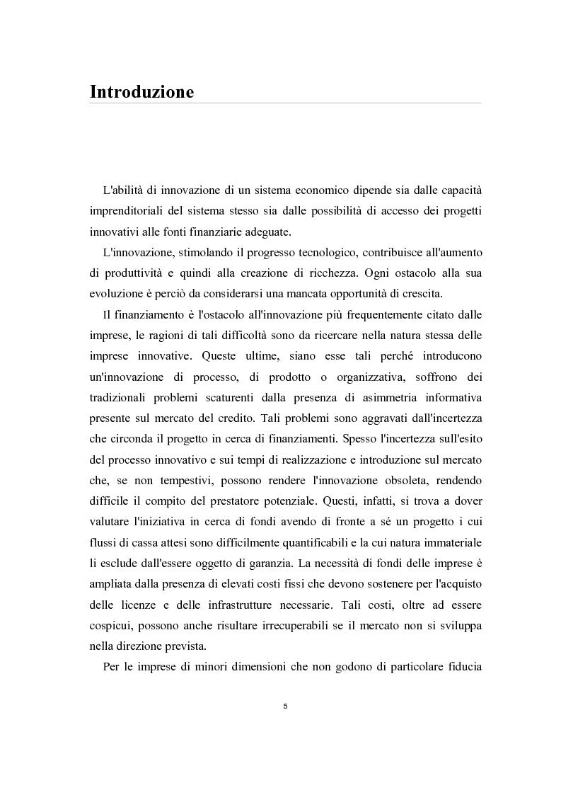 Anteprima della tesi: Il ruolo del sistema bancario nel finanziamento dell'innovazione alle piccole e medie imprese, Pagina 1