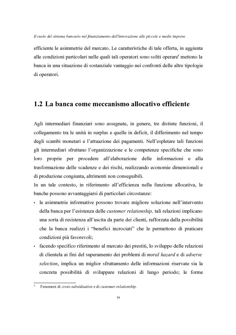 Anteprima della tesi: Il ruolo del sistema bancario nel finanziamento dell'innovazione alle piccole e medie imprese, Pagina 10