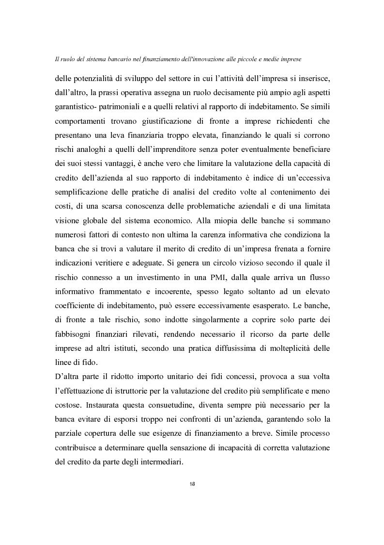 Anteprima della tesi: Il ruolo del sistema bancario nel finanziamento dell'innovazione alle piccole e medie imprese, Pagina 14