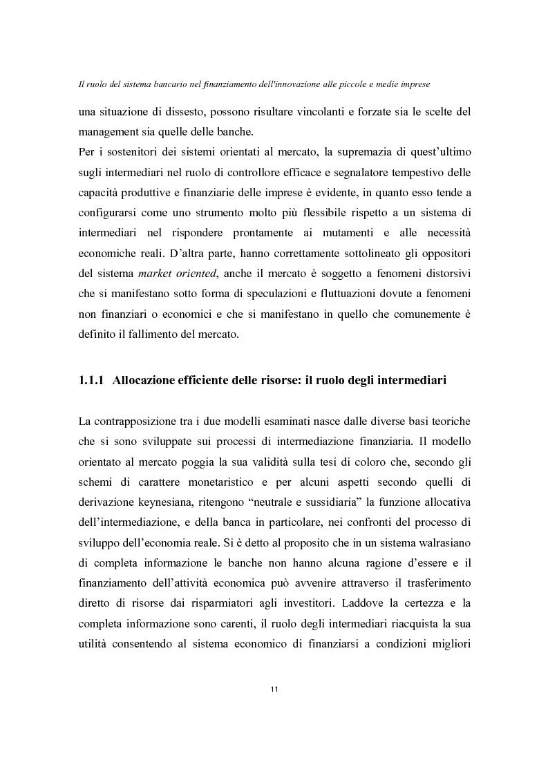 Anteprima della tesi: Il ruolo del sistema bancario nel finanziamento dell'innovazione alle piccole e medie imprese, Pagina 7