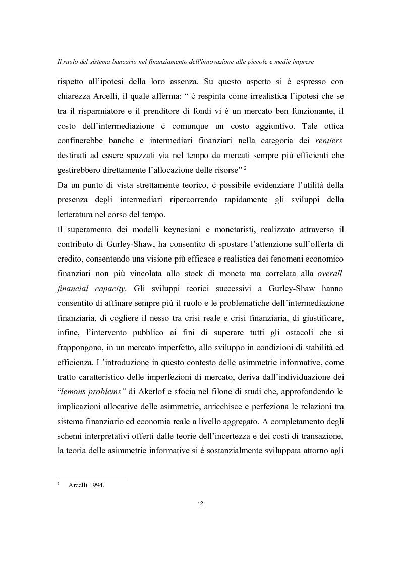 Anteprima della tesi: Il ruolo del sistema bancario nel finanziamento dell'innovazione alle piccole e medie imprese, Pagina 8