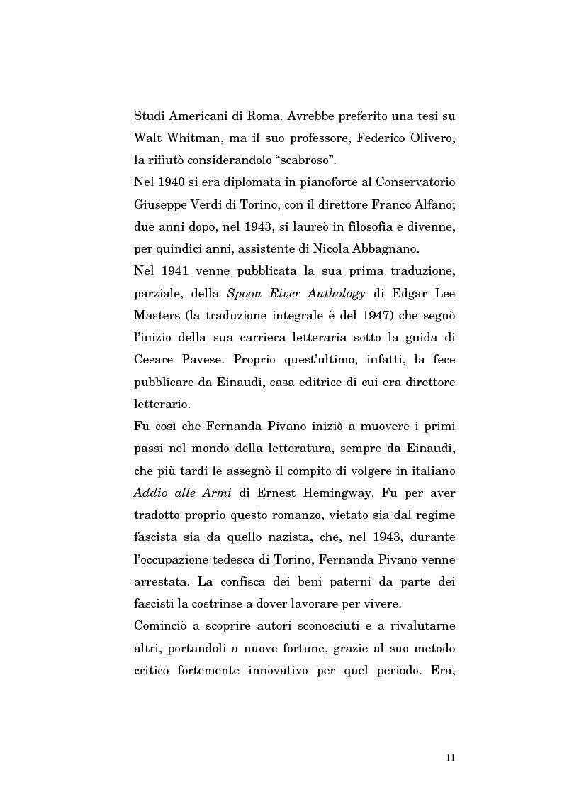 Anteprima della tesi: Fernanda Pivano e la letteratura americana, Pagina 11