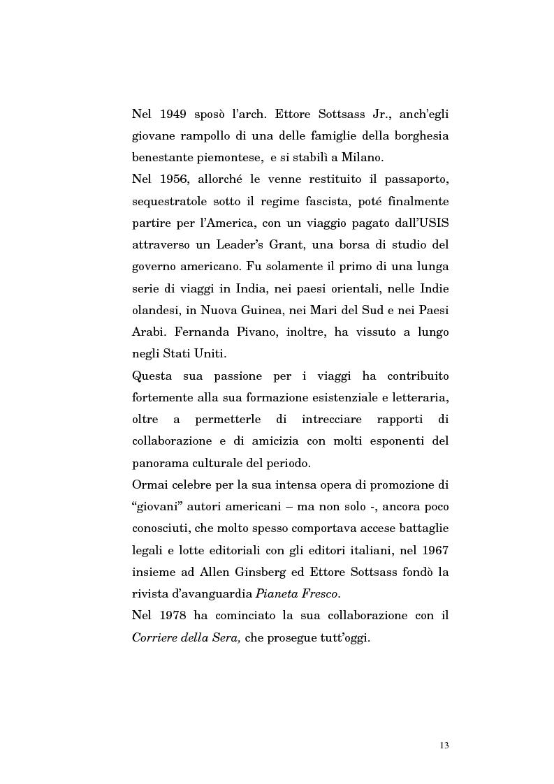 Anteprima della tesi: Fernanda Pivano e la letteratura americana, Pagina 13